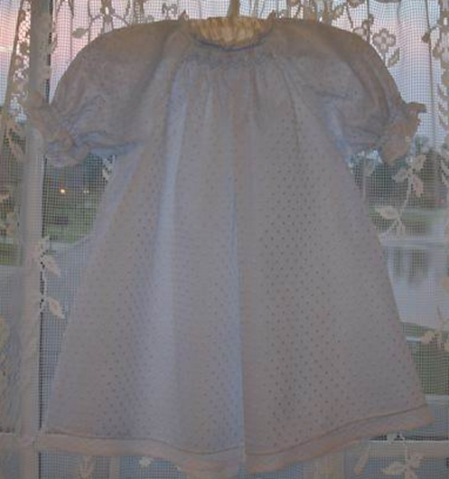Baby's Smocked Layette Dress Kit in Dotted Swiss