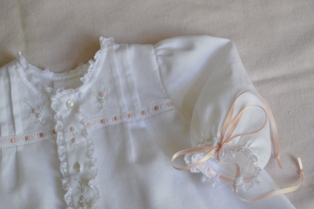 Winter White Baby Daygown - Satin Batiste