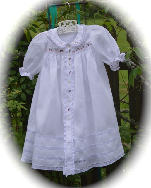 Smocked Baby Clothes Christmas Gown